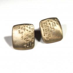 Orecchini Etrusco quadrati